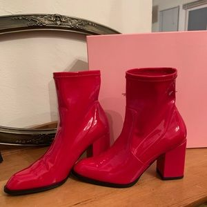 Intentionally Blank Janet Red Boot Sz. 7